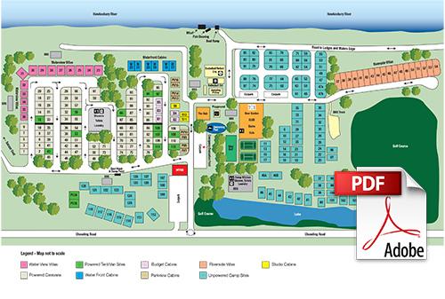 del rio resort map