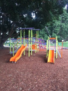 Childrens playground at Del Rio Riverside Resort